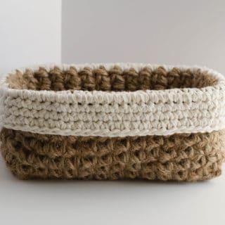 Crochet Jute Basket Pattern