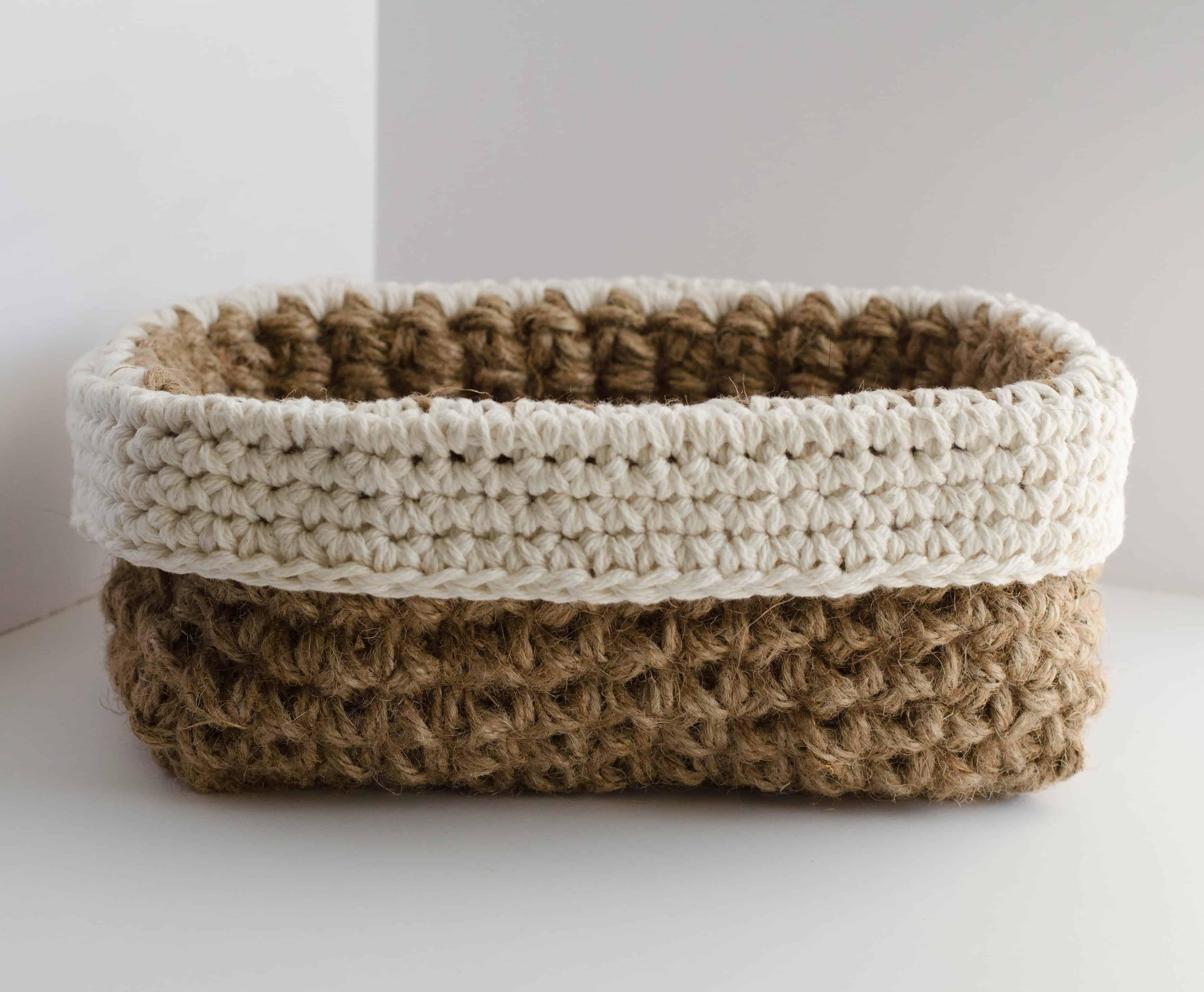 Crochet Jute Basket Pattern Crochet 365 Knit Too