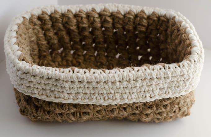 Crochet Jute Basket