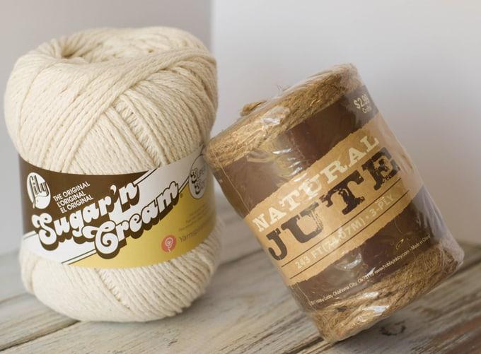 Basket Making Jute : Crochet jute basket pattern knit too