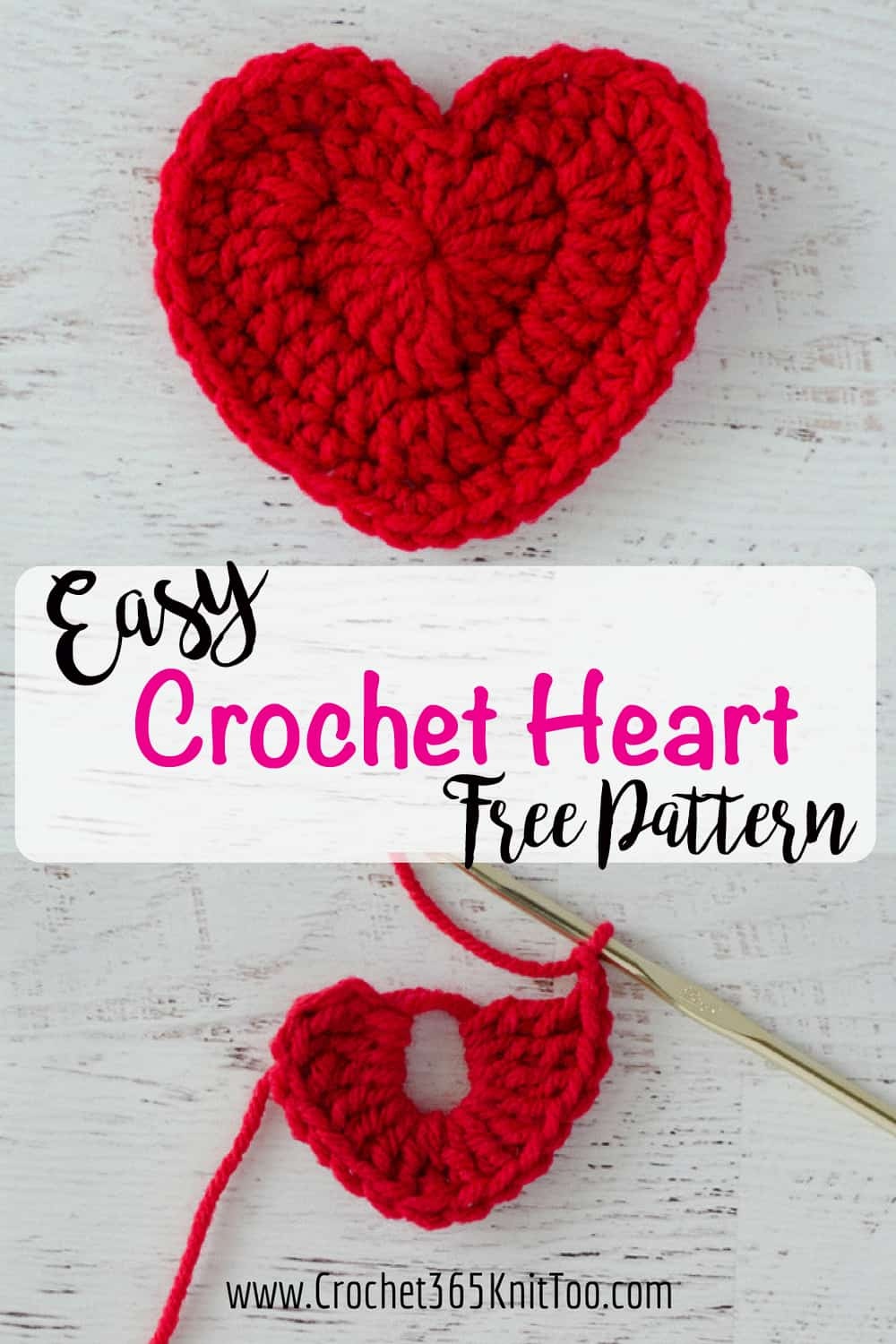 Crochet Heart Pattern - Crochet 365 Knit Too