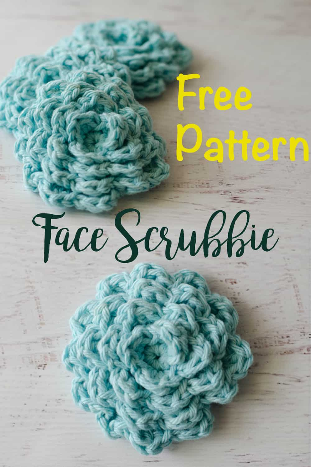 Free pattern for crochet face scrubbies
