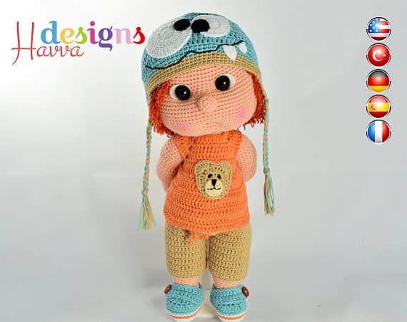 Cute Mia Gardener Girl Crochet Pattern » Amigurumi Crochet ... | 452x570