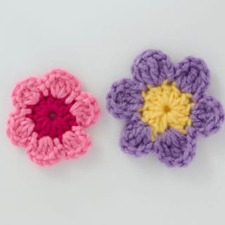 Free crochet flowers pattern