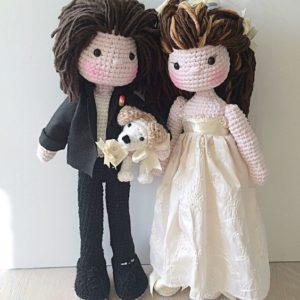 Wedding Doll Crochet Pattern : Wedding amigurumi Couple Doll ... | 300x300