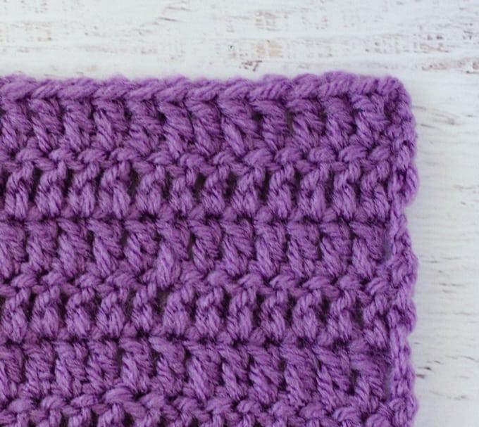 Purple double crochet sample