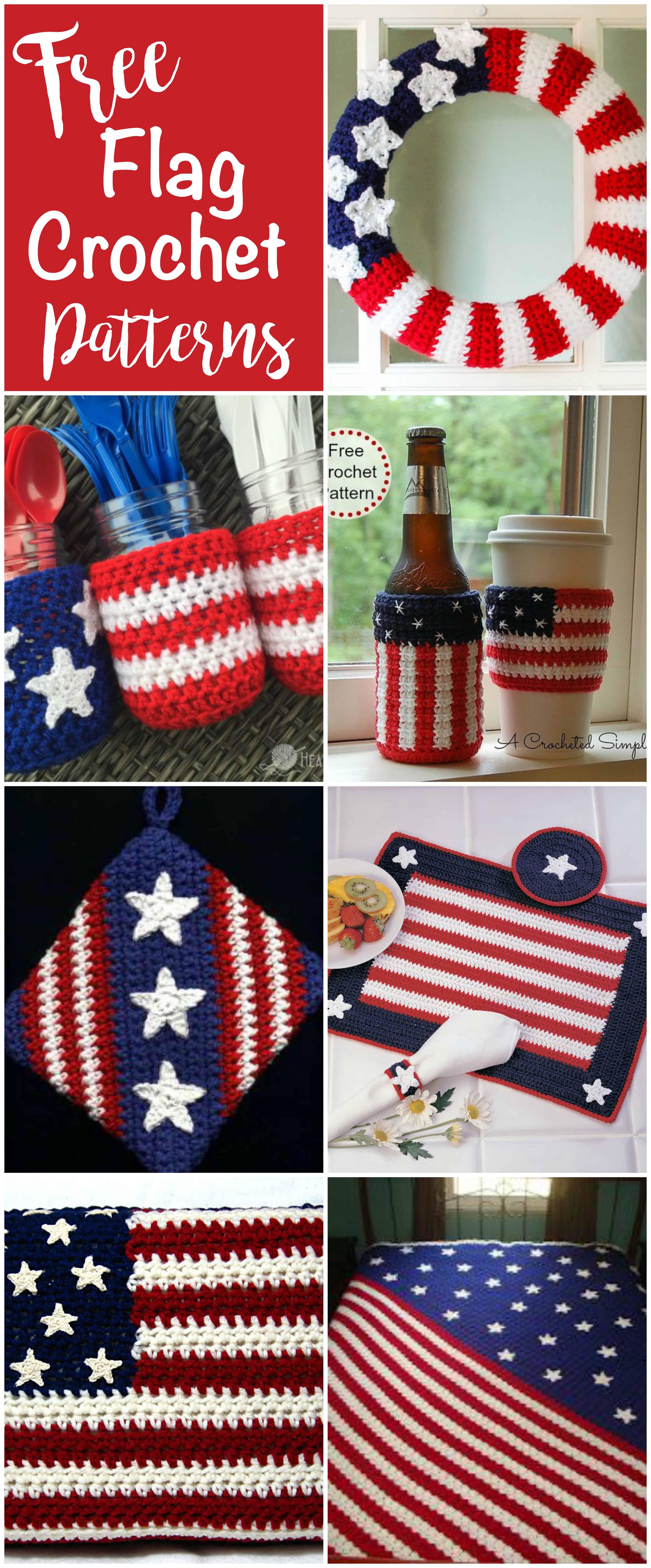 Free Flag Crochet Patterns - Crochet 365 Knit Too