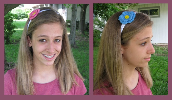 Changeable Crochet Flower Headband