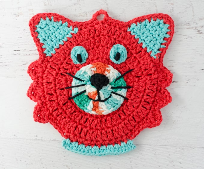 Crochet Cat Potholder Super cute free pattern!