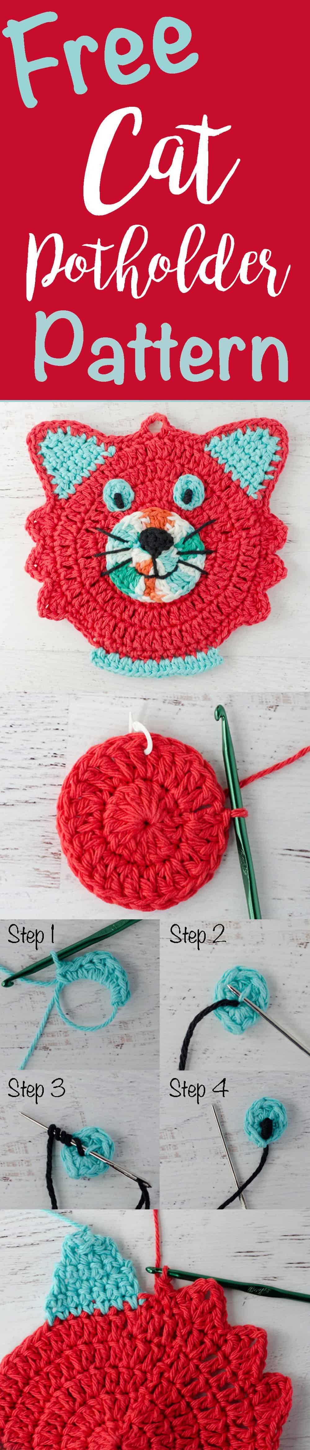Crochet Cat Potholder Pattern - Crochet 365 Knit Too