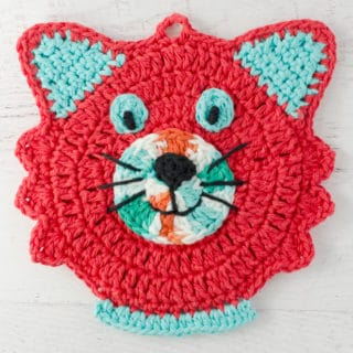 Fun Crochet Cat Potholder Pattern
