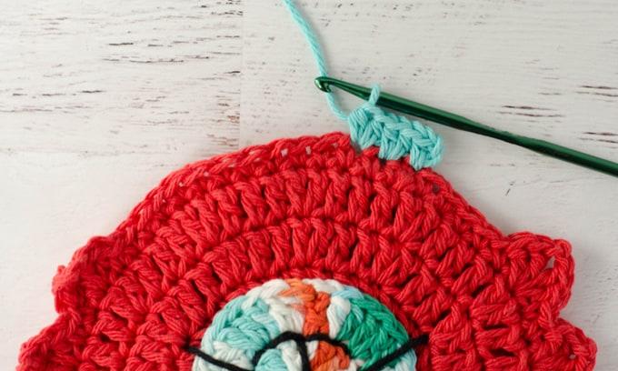 crochet cat potholder pattern