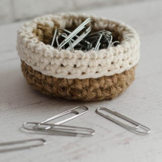 Mini Jute Basket Crochet Pattern