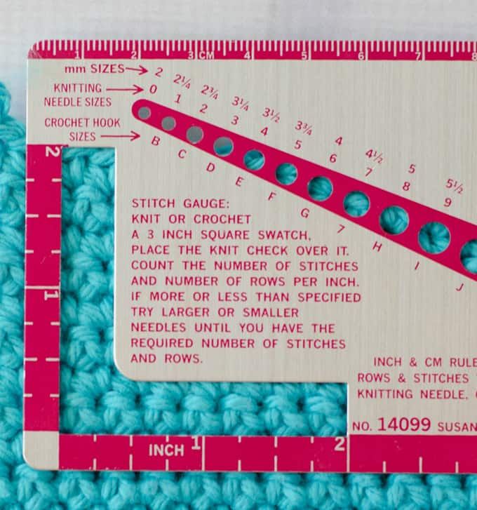 how to check gauge in crochet