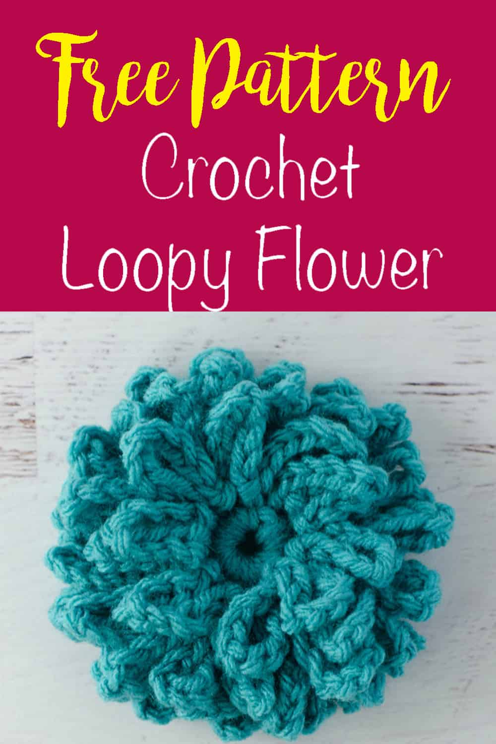 Crochet loopy flower