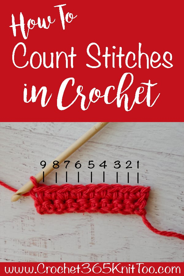How to count crochet stitches
