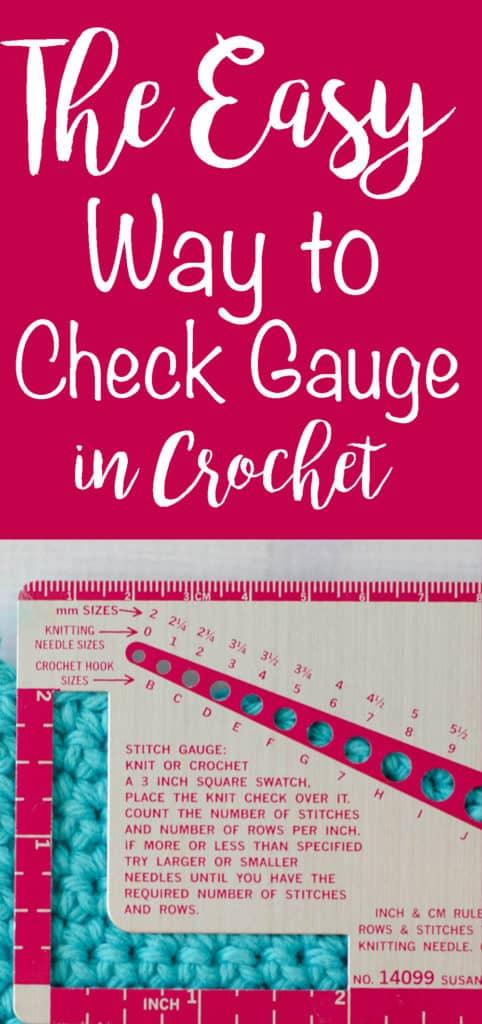 Check Gauge in Crochet