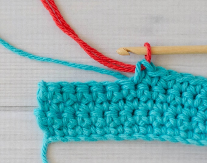 How to change color in crochet