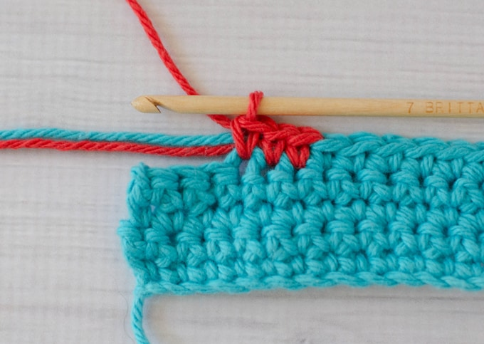 change color in crochet