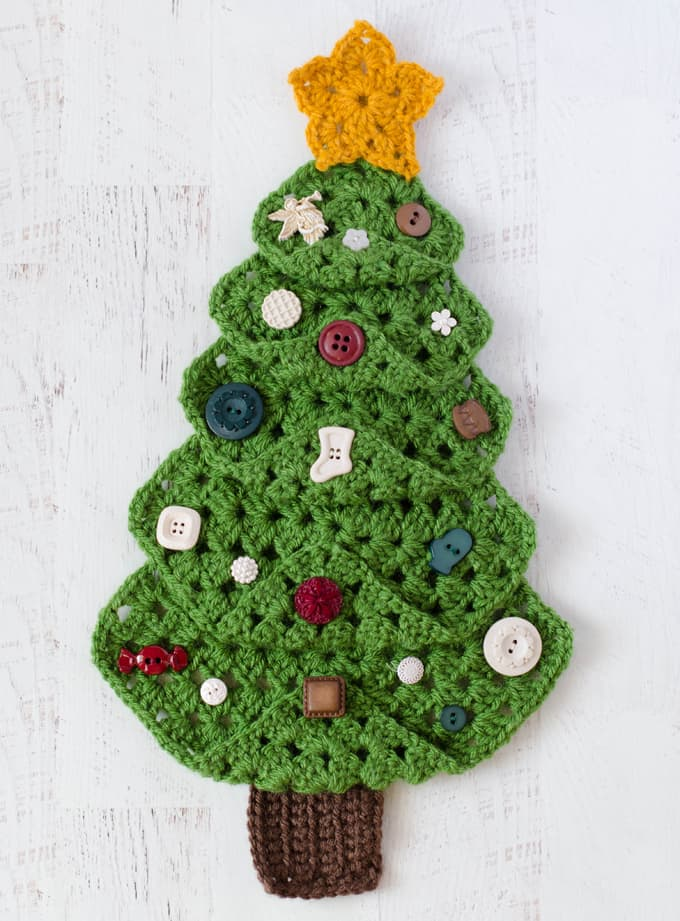 Granny Christmas Tree Crochet 365 Knit Too
