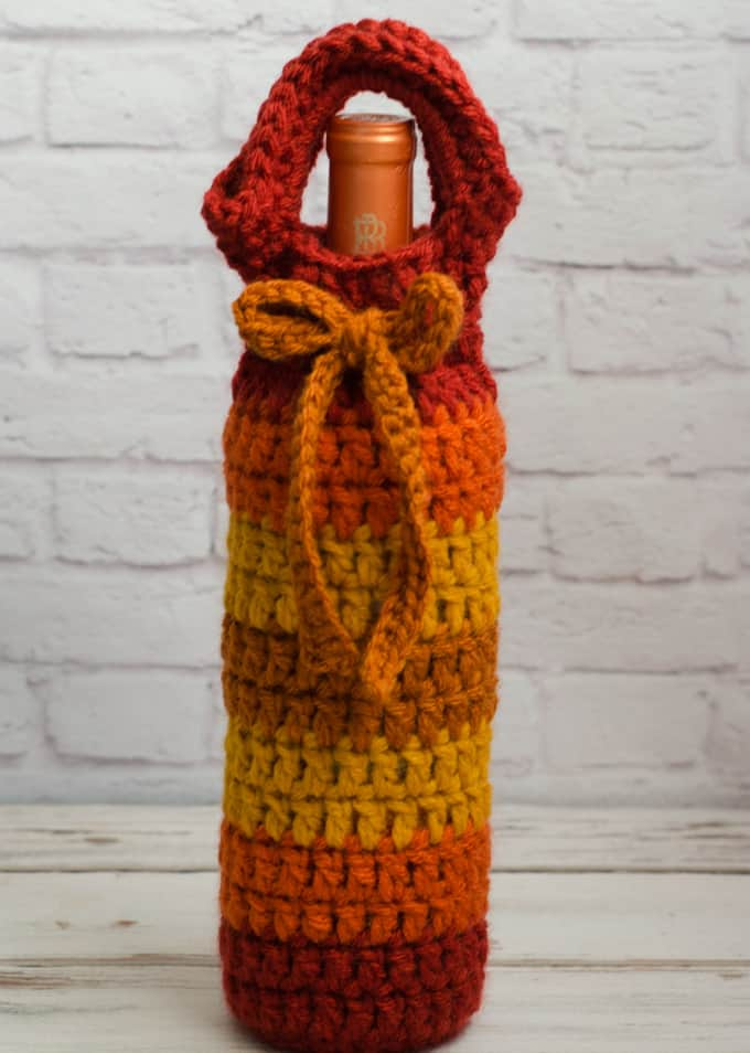 crochet wine cozy