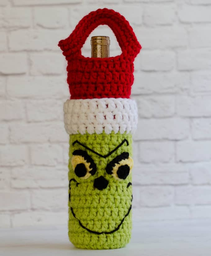 Crochet Grinch Wine Cozy Pattern Crochet 365 Knit Too