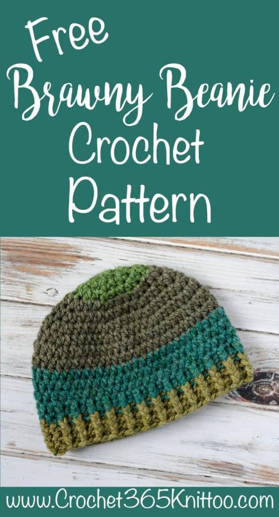 Brawny Beanie Men's Crochet Hat