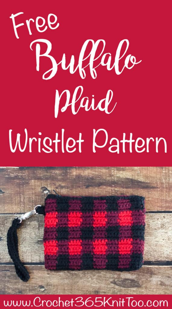 Buffalo Plaid Wristlet Crochet Pattern