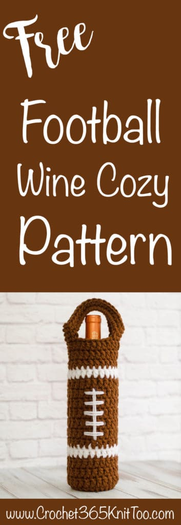 Crochet Football Wine Cozy Pattern
