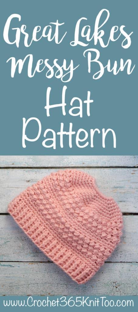 Great Lakes Messy Bun Hat