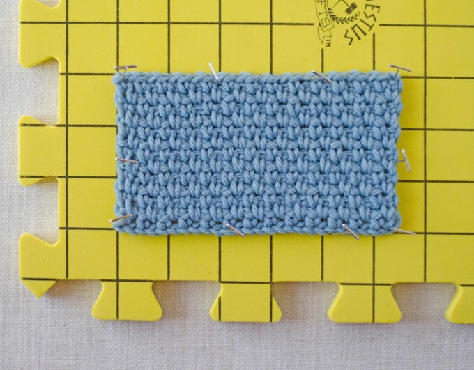 How to Block Crochet Work