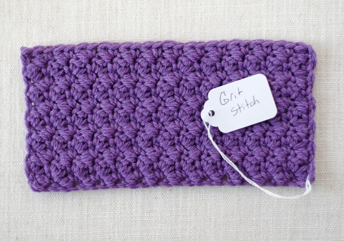 How to crochet a stitch swatch