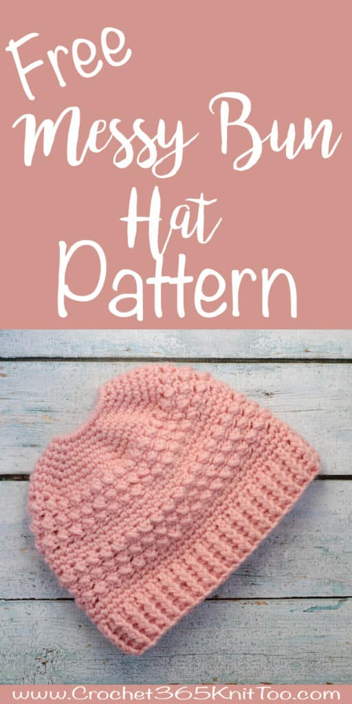 Great Lakes Messy Bun Hat Crochet Pattern