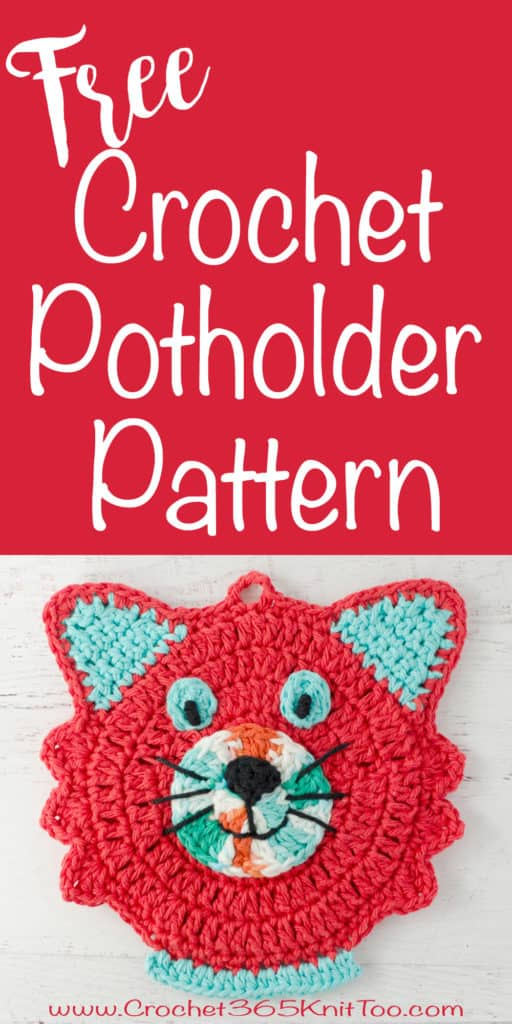 free crochet cat potholder pattern