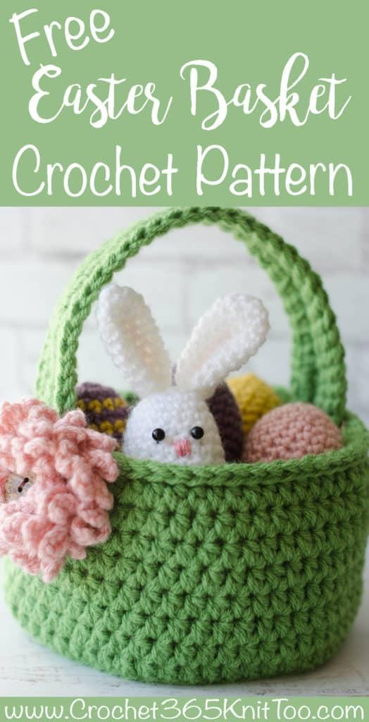 Crochet Easter Basket Pattern Crochet 365 Knit Too