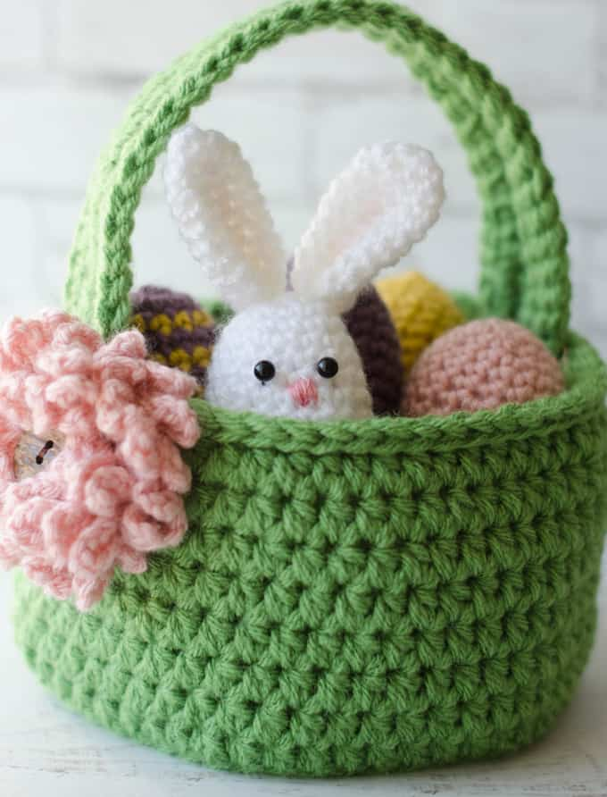 Crochet Easter Basket Pattern Crochet 365 Knit Too