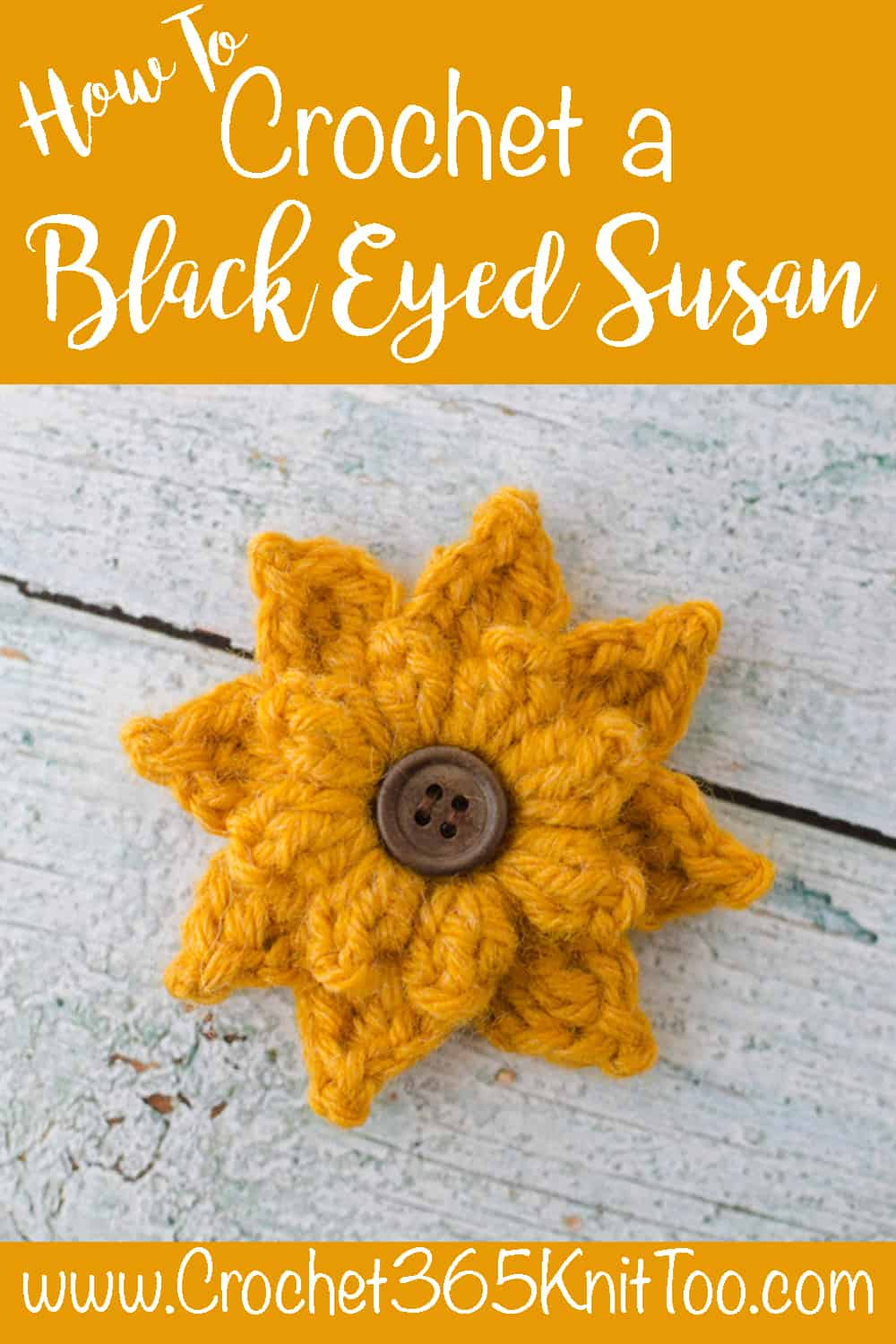 How to crochet black eyed susan flower
