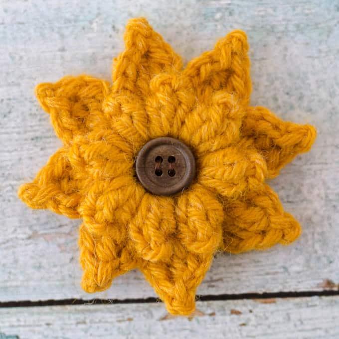 Crochet Black Eyed Susan Flower Crochet 365 Knit Too