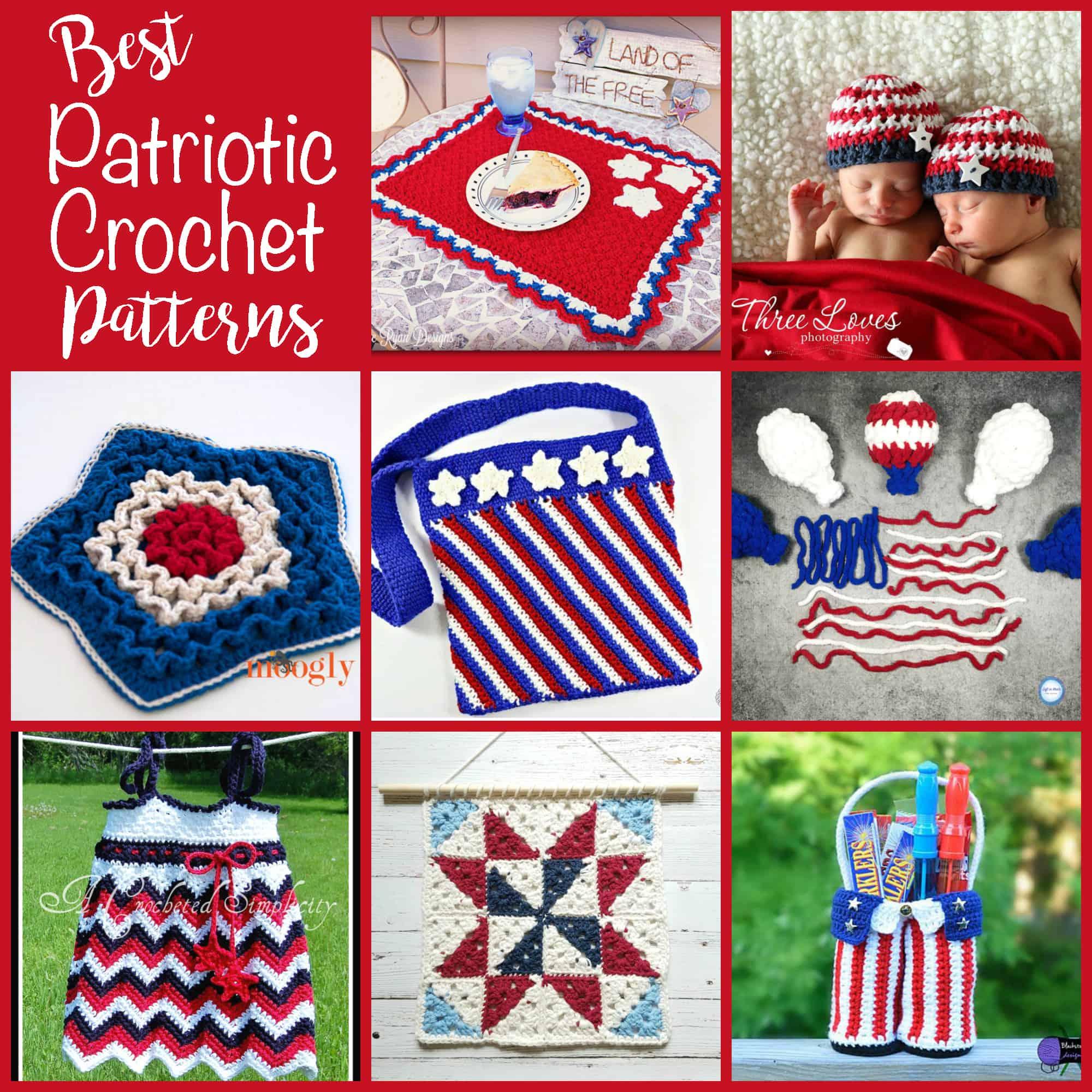 Best Patriotic Crochet Patterns - Crochet 365 Knit Too