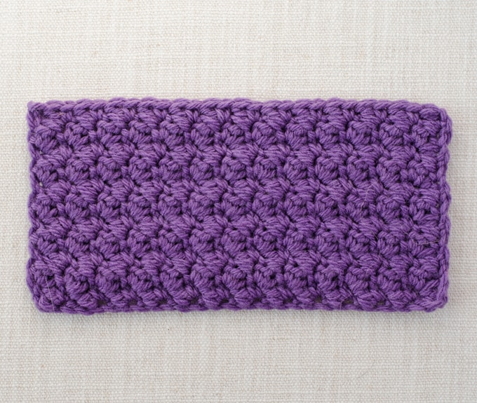 How to crochet the grit stitch