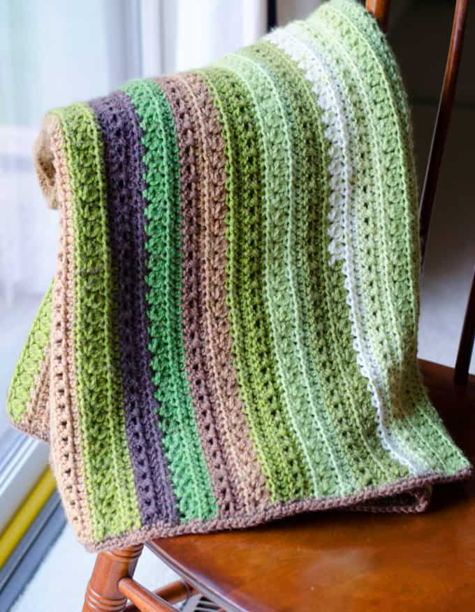 Fields And Furrows Crochet Afghan Crochet 365 Knit Too