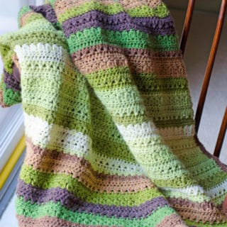 Fields and Furrows Crochet Afghan