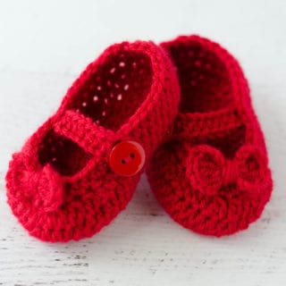 Crochet Mary Jane Booties