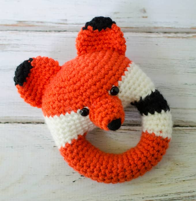 Crochet Fox Rattle