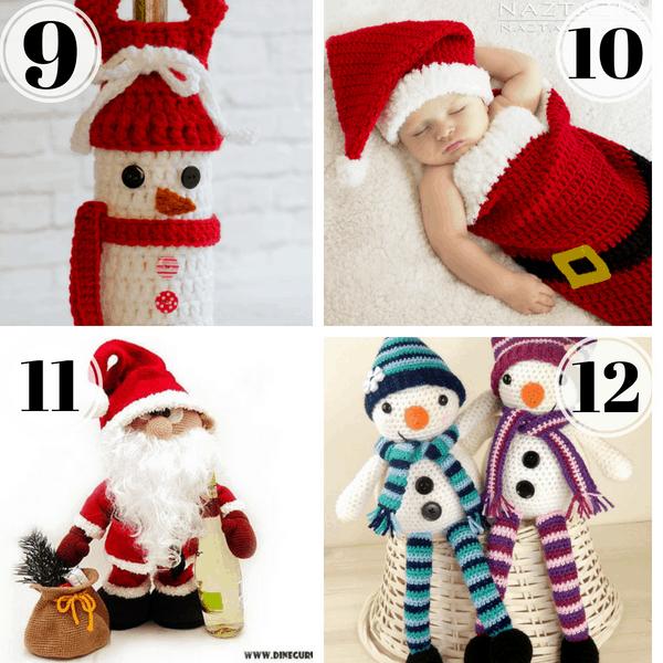 crochet santa pattern crochet snowman pattern