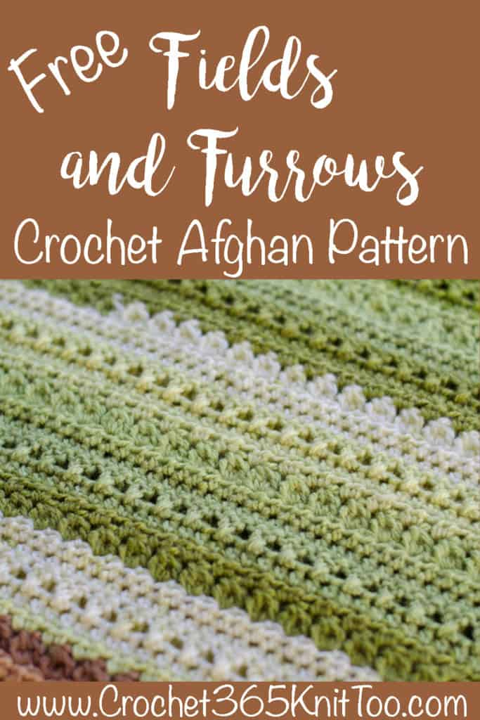 Graphic of Fields & Furrows Crochet Afghan Pattern