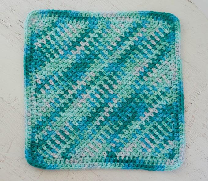 Blue Seed Stitch Dish Cloth