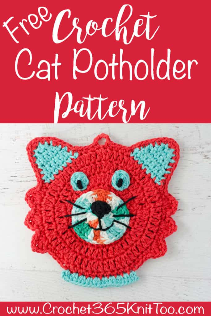 crochet cat potholder