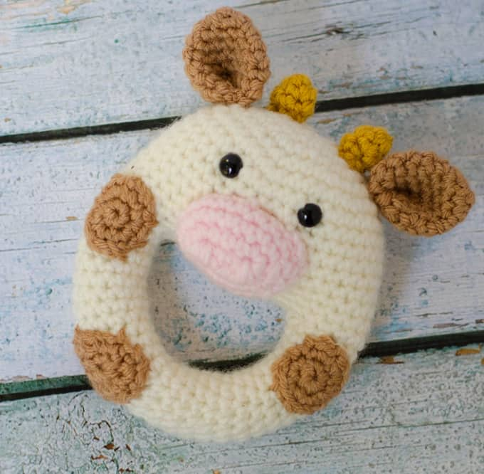 crochet cow rattle