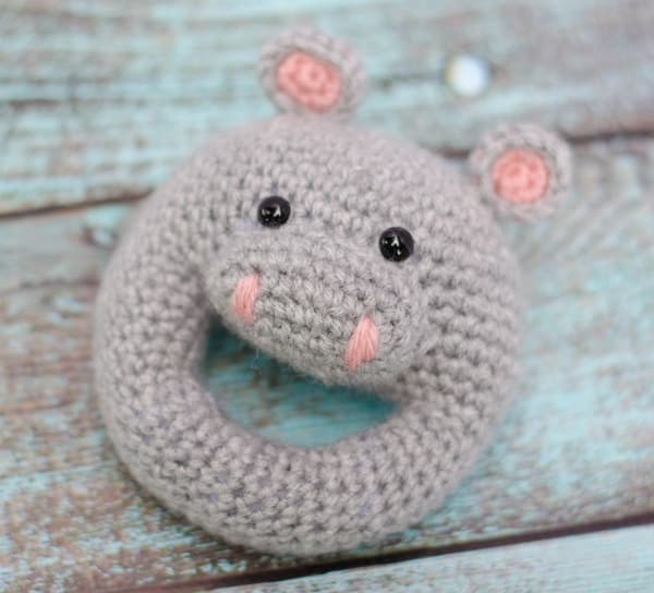 Crochet Hippo Rattle Pattern